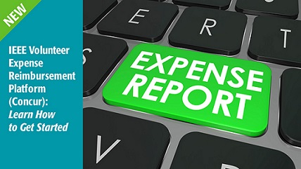 Details about the new process and tool to submit expense reports for Educational Activities and IEEE travel.